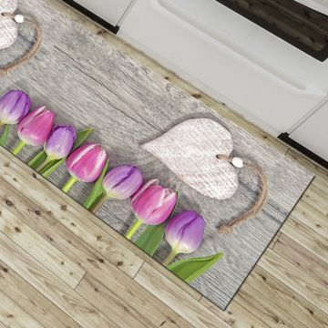 Tappeto Cucina Pink Tulips