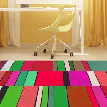 Tappeto camera da letto Colorful
