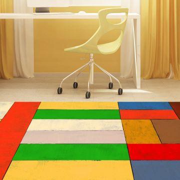 Tappeto camera da letto Geometric Colorful