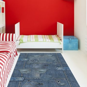 Tappeto camera da letto Pocket Jeans