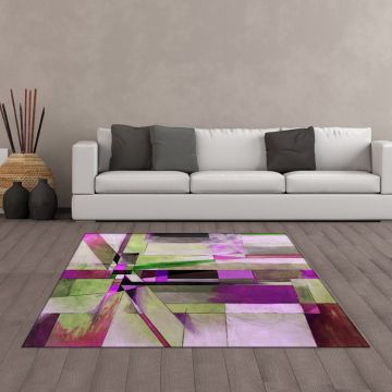 Tappeto Living Geometric Abstract Pink