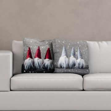 Cuscino Christmas Gnomes Trio