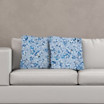 Cuscino Blue Flowers