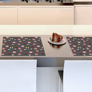 Coppia Tovagliette Set Americana Sushi Design