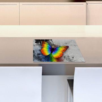 Coppia Tovagliette Set Americana Rainbow Butterfly