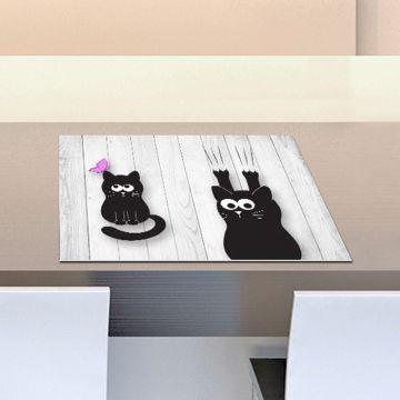 Coppia Tovagliette Set Americana Cute Cat