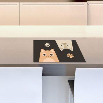 Coppia Tovagliette Set Americana Cats