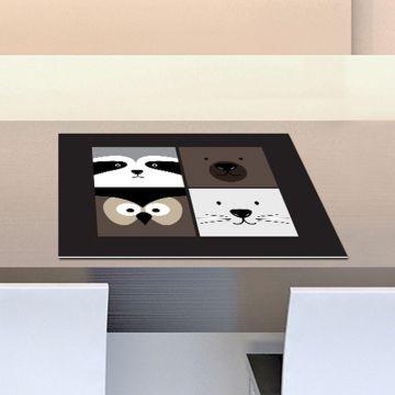 Coppia Tovagliette Set Americana Animals Collage