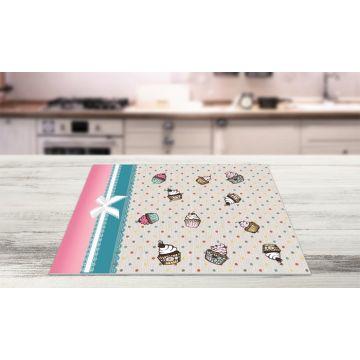 Coppia Tovagliette Set Americana Cupcake Design