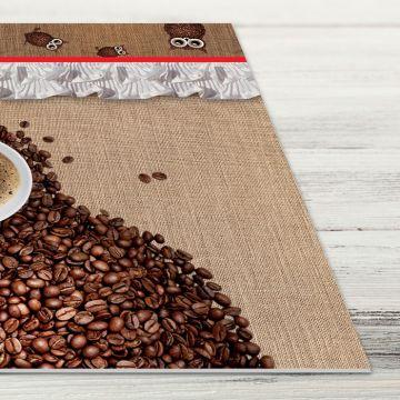 Coppia Tovagliette Set Americana Owl Coffee