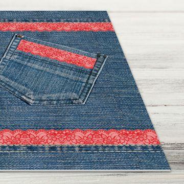 Coppia Tovagliette Set Americana Pocket Jeans