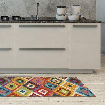 Tappeto Cucina Concentric Squares 1