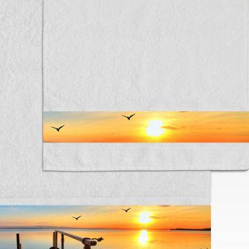 Coppia Salviette Bagno Sunset Sea