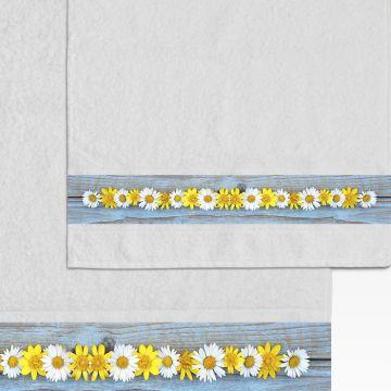 Coppia Salviette Bagno Flowers