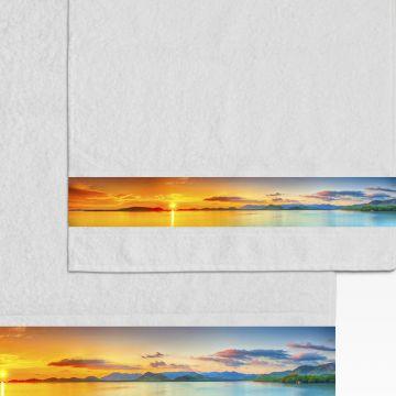 Coppia Salviette Bagno Sunset