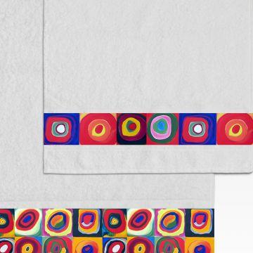 Coppia Salviette Bagno Colorful Circles