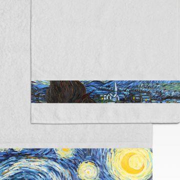 Coppia Salviette Bagno Van Gogh