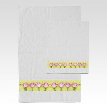 Coppia Salviette Bagno Heart and Roses
