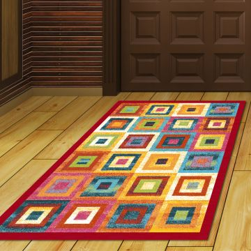 Tappeto Ingresso Colorful Squares