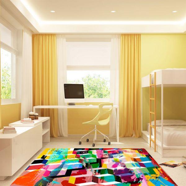 Tappeto camera da letto Color Cubes