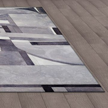 Tappeto Living Geometric Black and White