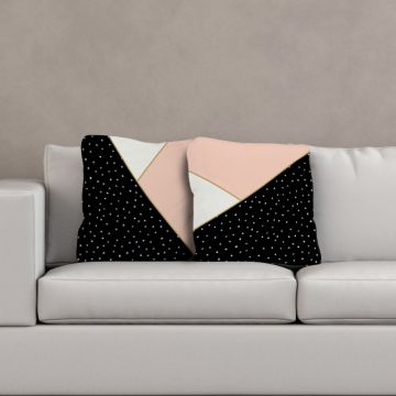 Cuscino Abstract Black and Pink