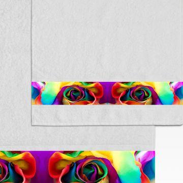 Coppia Salviette Bagno Rose Rainbow